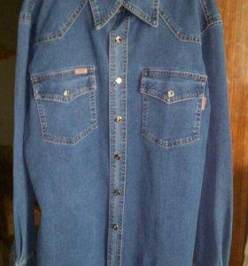 Фирменная джинсовая рубашка новая