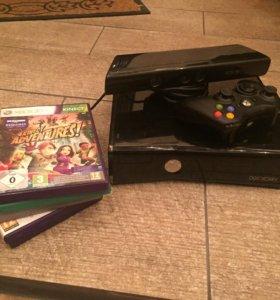 Xbox 360+Kinect. Ж/д 250.игры на дисках.все в о/с.