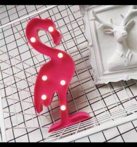 Светильник, фламинго