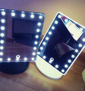 Зеркало с посветкой настольное