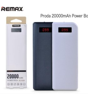 Внешний аккумулятор proda 20000ma.