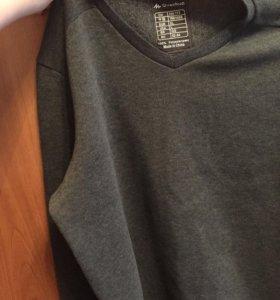 Кофта с кожаными вставками на локтях