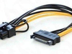 Переходник SATA - PCI-E 8(6) pin для видеокарты