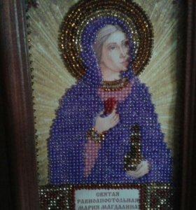 """Икона бисером """"Святая Мария"""""""