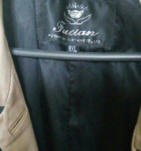 Кожаное полу пальто