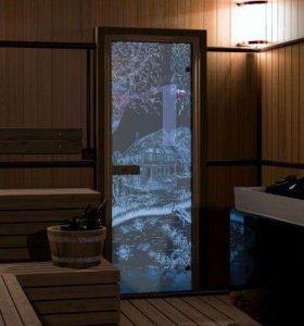 Двери для бани в комплекте