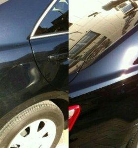 Полировка автомобиля жидким стеклом.