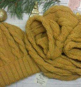 Комплект: шапка + шарф (снуд)