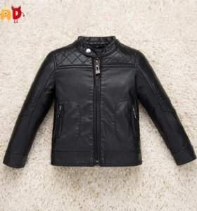 Куртка кожаная ZARA на парня 11-13 лет