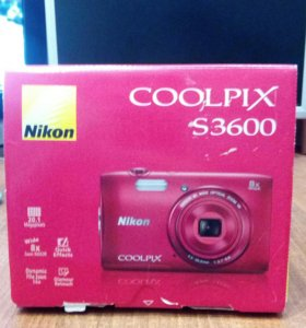 Фотоаппарат NIKON COOLPIX S3600RED