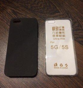 Силиконовые чехлы для iPhone 5/6/7/8 и Plus модели