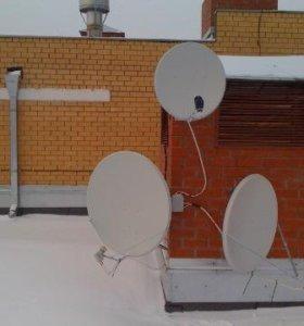 Установка спутниковых и цифровых тв антенн
