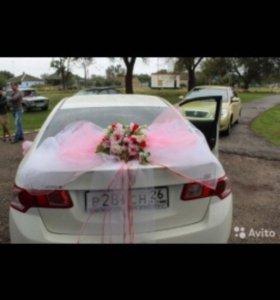 Украшения для машины на свадьбу ручной работы