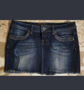 Юбка джинсовая 44размер