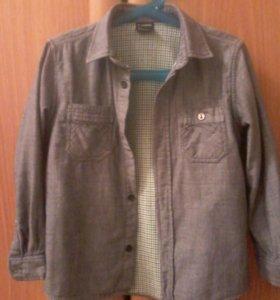 Джинсовая рубашка 100%хлопок.