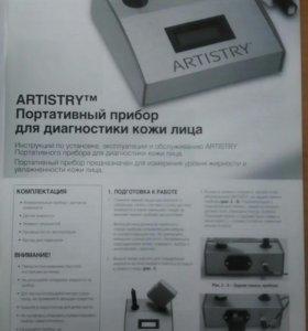 Портативный прибор для диагностики кожи лица.