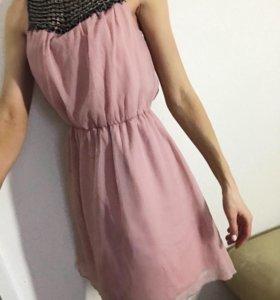 Платье шифоновое xs s 42 44