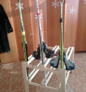 Подставка для лыж на 30 штук в школу