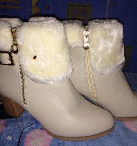 Продам зимние ботиночки(новые)или обмен