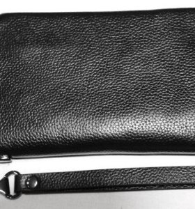Мужской кожаный клатч Montblanc black новый