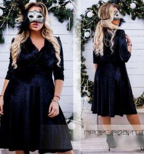 Платье бархат 58-60 размер
