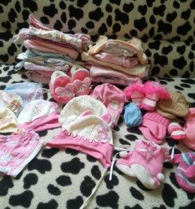 Вещи для девочки с 0 до 3 месяцев