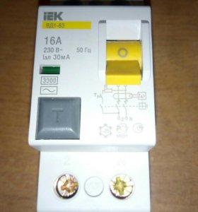 Выключатель диф тока (УЗО) IEK