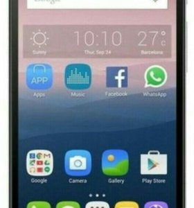 Alcatel One Touch POP3 5.5 5054D Black Leather