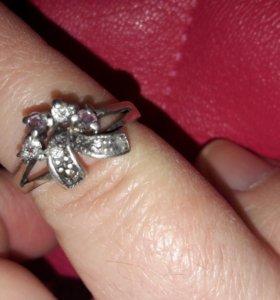 Кольцо серебро б/у.