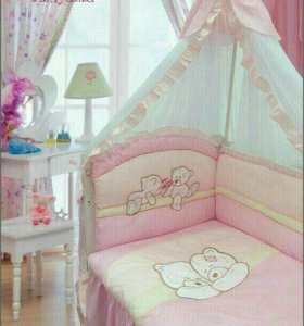 Бортики и балдахины в детский кровать
