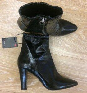 Новые ботильоны ZARA 👞 кожаные женские ботинки