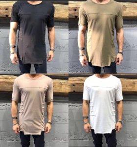 Удлиненная футболка мужская новая
