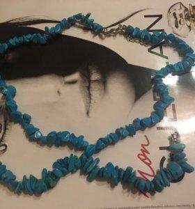 Ожерелье и  браслет из бирюзы