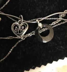 Серебряные кулоны подвески