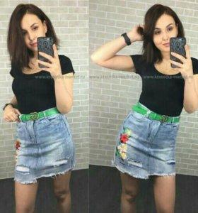Новая джинсовые юбка