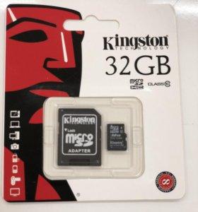 Карта памяти microSD Kingston 32GB