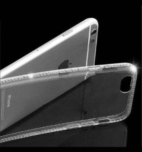 чехол со стразами на iPhone 7