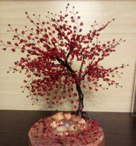 Дерево из бисера светильник-ночник