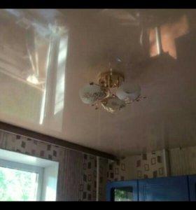 Натяжные потолки, сантехника, электрика, ламинат