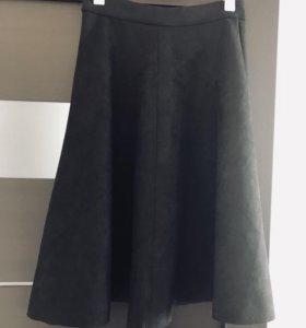 Замшевая стильная юбка! Абсолютно новая!