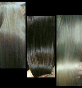 Кератиновое выпрямление волос. Ботокс для волос.