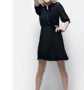 Шифоновое платье с плиссированной юбкой Naf Naf