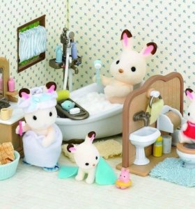 Мебель со зверушками Sylvanian families!(4 комнаты