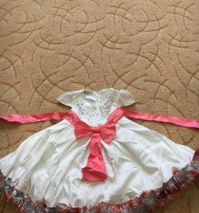 Платье нарядное, можно на нг, 74-80р