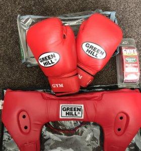 Перчатки шлем бинт для бокса