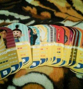 Карточки миньоны 500 руб за 80 шт.