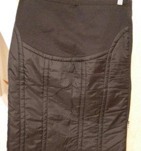 Теплая юбка на молнии для беременных