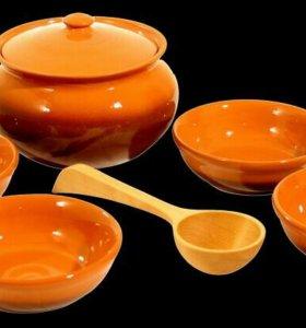Набор посуды Вятская керамика Новый