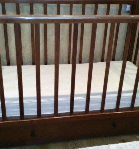 Детская кроватка Лель Жасмин+ортопед. матрас