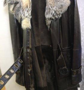Зимнее пальто, дублёнка, новое!